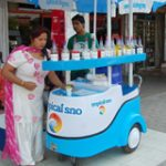 shaved ice cart for tropical snow