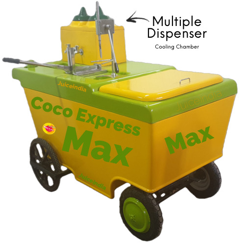 Coconut water cart - coco express max with multiple dispenser