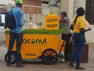 juiceindia coconut water cart for zaconut