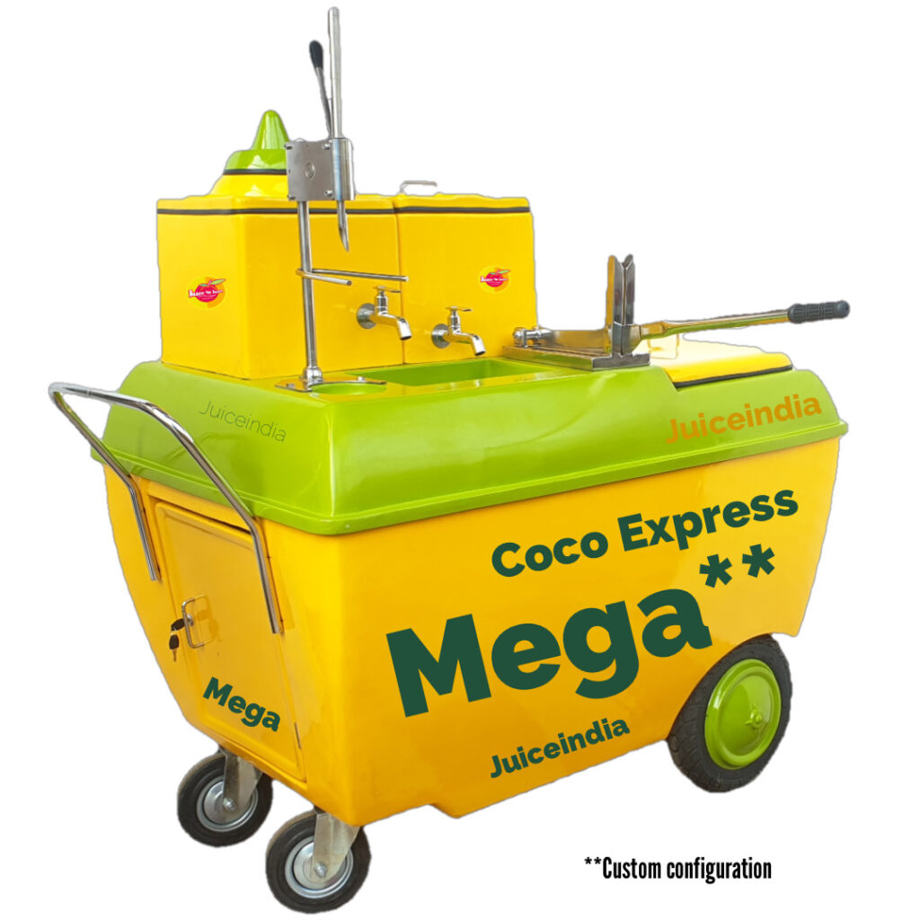 coconut water cart - coco express MEGA Customised for customer